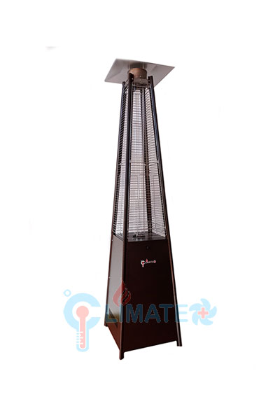 Quartz Tube Pyramid Patio Heater With Electric Ignition (Gold)