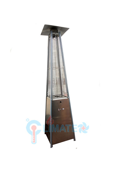 Charming Quartz Tube Pyramid Patio Heater With Electric Ignition Stainless Steel