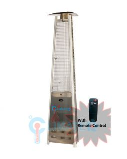 Pyramid Outdoor Flame Heater Triangle with Remote